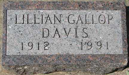 GALLOP DAVIS, LILLIAN - Minnehaha County, South Dakota | LILLIAN GALLOP DAVIS - South Dakota Gravestone Photos