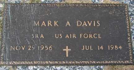 DAVIS, MARK A. - Minnehaha County, South Dakota   MARK A. DAVIS - South Dakota Gravestone Photos