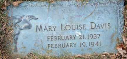 DAVIS, MARY LOUISE - Minnehaha County, South Dakota | MARY LOUISE DAVIS - South Dakota Gravestone Photos