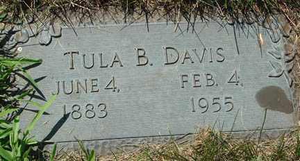 DAVIS, TULA B. - Minnehaha County, South Dakota | TULA B. DAVIS - South Dakota Gravestone Photos