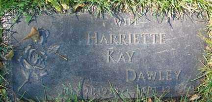 DAWLEY, HARRIETTE KAY - Minnehaha County, South Dakota | HARRIETTE KAY DAWLEY - South Dakota Gravestone Photos