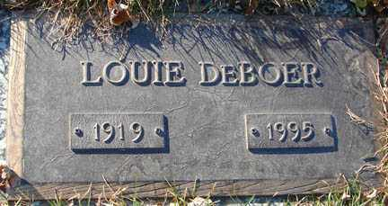 DE BOER, LOUIE - Minnehaha County, South Dakota | LOUIE DE BOER - South Dakota Gravestone Photos