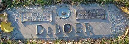 DE BOER, PETE J. - Minnehaha County, South Dakota | PETE J. DE BOER - South Dakota Gravestone Photos