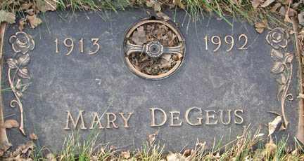 DE GEUS, MARY - Minnehaha County, South Dakota | MARY DE GEUS - South Dakota Gravestone Photos