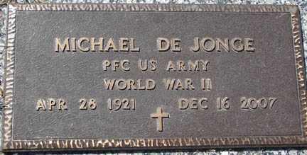 DE JONCE, MICHAEL - Minnehaha County, South Dakota   MICHAEL DE JONCE - South Dakota Gravestone Photos