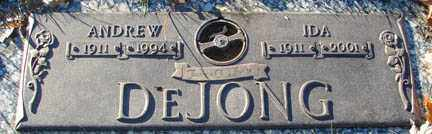 DE JONG, IDA - Minnehaha County, South Dakota | IDA DE JONG - South Dakota Gravestone Photos