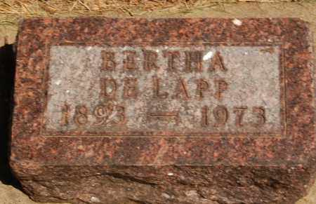 DE LAPP, BERTHA - Minnehaha County, South Dakota   BERTHA DE LAPP - South Dakota Gravestone Photos