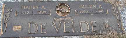 DE VELDE, HARRY A. - Minnehaha County, South Dakota | HARRY A. DE VELDE - South Dakota Gravestone Photos