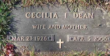 ANDERSON DEAN, CECILLIA ISABELL - Minnehaha County, South Dakota | CECILLIA ISABELL ANDERSON DEAN - South Dakota Gravestone Photos