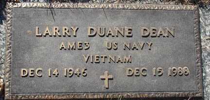 DEAN, LARRY DUANE - Minnehaha County, South Dakota   LARRY DUANE DEAN - South Dakota Gravestone Photos