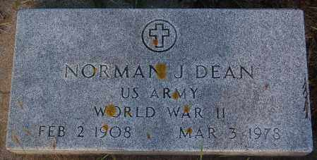 DEAN, NORMAN J. (WW II) - Minnehaha County, South Dakota | NORMAN J. (WW II) DEAN - South Dakota Gravestone Photos