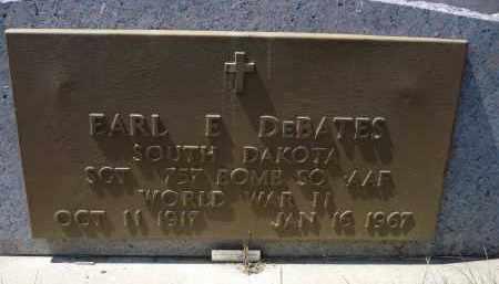 DEBATES, EARL E. - Minnehaha County, South Dakota   EARL E. DEBATES - South Dakota Gravestone Photos