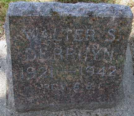 DEBRUYN, WALTER S. - Minnehaha County, South Dakota | WALTER S. DEBRUYN - South Dakota Gravestone Photos