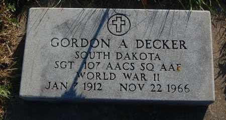 DECKER, GORDON A. (WW II) - Minnehaha County, South Dakota | GORDON A. (WW II) DECKER - South Dakota Gravestone Photos