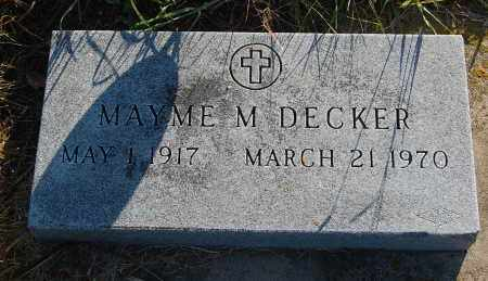 DECKER, MAYME M. - Minnehaha County, South Dakota | MAYME M. DECKER - South Dakota Gravestone Photos