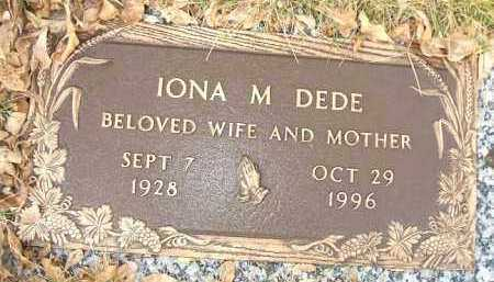DEDE, IONA M. - Minnehaha County, South Dakota | IONA M. DEDE - South Dakota Gravestone Photos