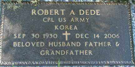 DEDE, ROBERT A. - Minnehaha County, South Dakota | ROBERT A. DEDE - South Dakota Gravestone Photos