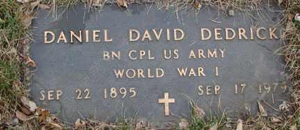 DEDRICK, DANIEL DAVID (WWI) - Minnehaha County, South Dakota | DANIEL DAVID (WWI) DEDRICK - South Dakota Gravestone Photos