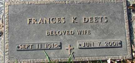 JACOMENT DEETS, FRANCES YVONNE - Minnehaha County, South Dakota | FRANCES YVONNE JACOMENT DEETS - South Dakota Gravestone Photos