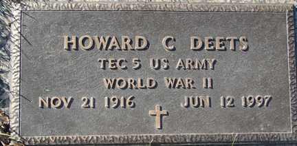DEETS, HOWARD C. - Minnehaha County, South Dakota   HOWARD C. DEETS - South Dakota Gravestone Photos