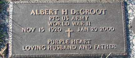 DEGROOT, ALBERT H. (WWII) - Minnehaha County, South Dakota | ALBERT H. (WWII) DEGROOT - South Dakota Gravestone Photos
