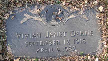 DEHNE, VIVIAN JANET - Minnehaha County, South Dakota | VIVIAN JANET DEHNE - South Dakota Gravestone Photos