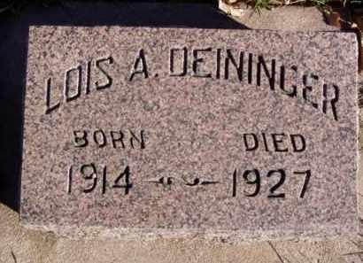 DEININGER, LOIS A. - Minnehaha County, South Dakota | LOIS A. DEININGER - South Dakota Gravestone Photos