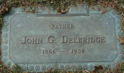 DELBRIDGE, JOHN G. - Minnehaha County, South Dakota | JOHN G. DELBRIDGE - South Dakota Gravestone Photos