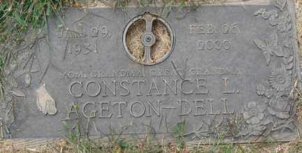 AGETON DELL, CONSTANCE L. - Minnehaha County, South Dakota | CONSTANCE L. AGETON DELL - South Dakota Gravestone Photos