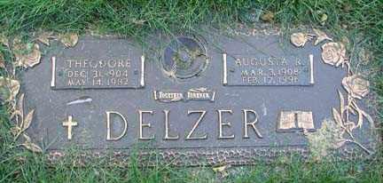 DELZER, AUGUSTA R. - Minnehaha County, South Dakota | AUGUSTA R. DELZER - South Dakota Gravestone Photos