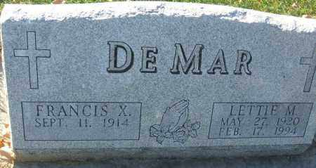 DEMAR, FRANCIS X. - Minnehaha County, South Dakota   FRANCIS X. DEMAR - South Dakota Gravestone Photos
