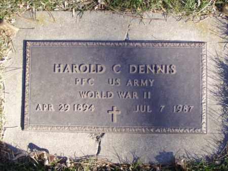 DENNIS, HAROLD C. - Minnehaha County, South Dakota   HAROLD C. DENNIS - South Dakota Gravestone Photos
