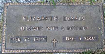 DESAIX, ELIZABETH - Minnehaha County, South Dakota | ELIZABETH DESAIX - South Dakota Gravestone Photos