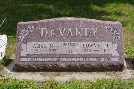 DEVANEY, ALICE M. - Minnehaha County, South Dakota | ALICE M. DEVANEY - South Dakota Gravestone Photos