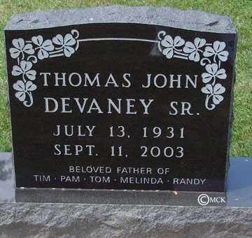 DEVANEY, THOMAS JOHN - Minnehaha County, South Dakota | THOMAS JOHN DEVANEY - South Dakota Gravestone Photos