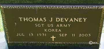 DEVANEY, THOMAS J. - Minnehaha County, South Dakota | THOMAS J. DEVANEY - South Dakota Gravestone Photos