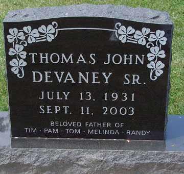 DEVANEY, THOMAS JOHN SR. - Minnehaha County, South Dakota | THOMAS JOHN SR. DEVANEY - South Dakota Gravestone Photos