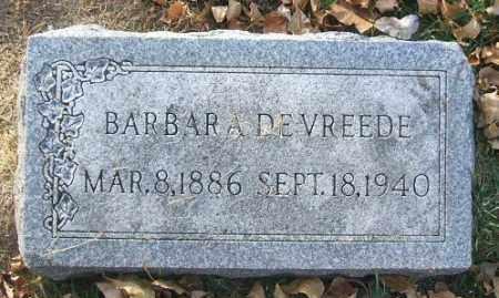 DEVREEDE, BARBARA - Minnehaha County, South Dakota | BARBARA DEVREEDE - South Dakota Gravestone Photos