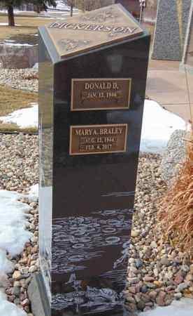 BRALEY DICKERSON, MARY A. - Minnehaha County, South Dakota | MARY A. BRALEY DICKERSON - South Dakota Gravestone Photos