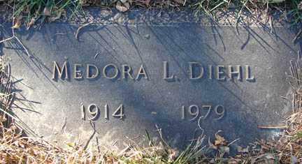 DIEHL, MEDORA L. - Minnehaha County, South Dakota | MEDORA L. DIEHL - South Dakota Gravestone Photos