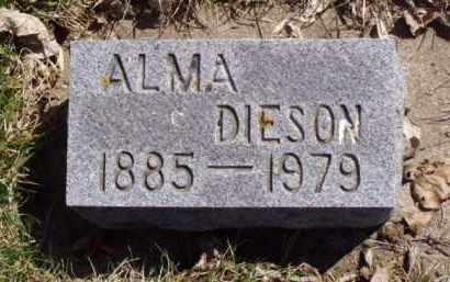 DIESON, ALMA - Minnehaha County, South Dakota | ALMA DIESON - South Dakota Gravestone Photos