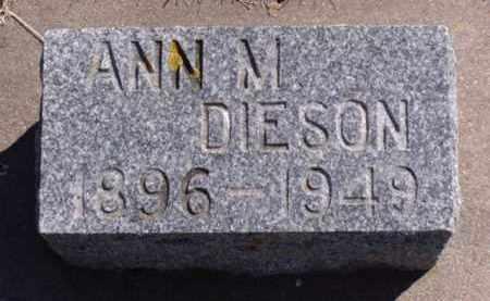 DIESON, ANN M. - Minnehaha County, South Dakota | ANN M. DIESON - South Dakota Gravestone Photos