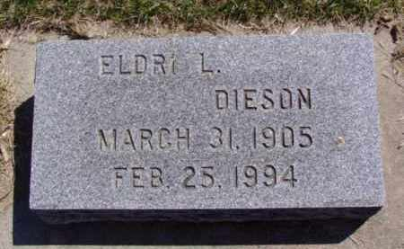 DIESON, ELDRI L. - Minnehaha County, South Dakota | ELDRI L. DIESON - South Dakota Gravestone Photos