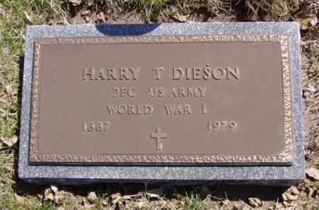 DIESON, HARRY THEODORE - Minnehaha County, South Dakota | HARRY THEODORE DIESON - South Dakota Gravestone Photos