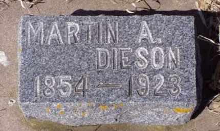 DIESON, MARTIN A. - Minnehaha County, South Dakota   MARTIN A. DIESON - South Dakota Gravestone Photos