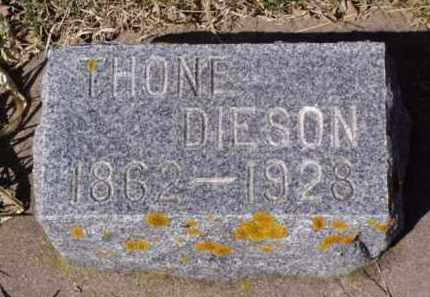 DIESON, THONE - Minnehaha County, South Dakota | THONE DIESON - South Dakota Gravestone Photos