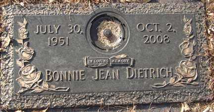 DIETRICH, BONNIE JEAN - Minnehaha County, South Dakota | BONNIE JEAN DIETRICH - South Dakota Gravestone Photos