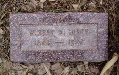 DIETZ, ALBERT DELOS - Minnehaha County, South Dakota | ALBERT DELOS DIETZ - South Dakota Gravestone Photos