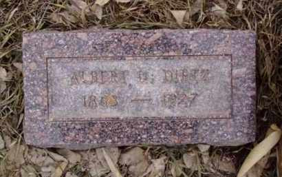 DIETZ, ALBERT DELOS - Minnehaha County, South Dakota   ALBERT DELOS DIETZ - South Dakota Gravestone Photos