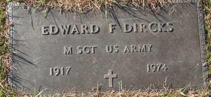 DIRCKS, EDWARD F. (MILITARY) - Minnehaha County, South Dakota | EDWARD F. (MILITARY) DIRCKS - South Dakota Gravestone Photos